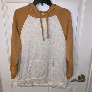 Mustard and gray hoodie